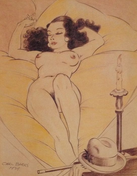 """Nude with the Hat"", Carl Barks print."