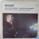 Mozart concerto for clarinet/concerto for two piano's