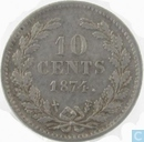 Netherlands 10 cent 1874 (Sword)
