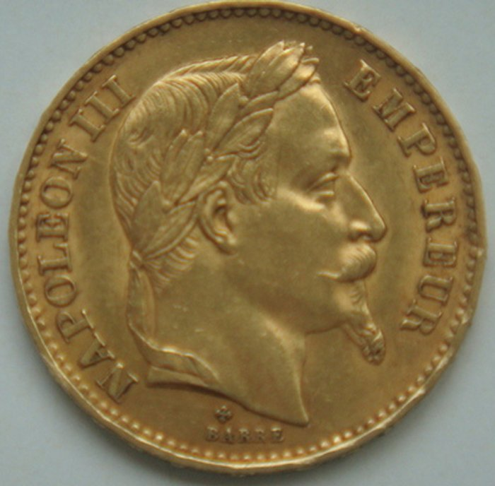 France - 20 Francs 1869 BB Napoleon III gold