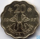"Hongkong 20 cents 1997 ""Retrocession to China"""