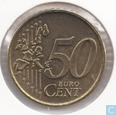 Coins - the Netherlands - Netherlands 50 cent 1999
