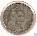 "Netherlands 20 euro 2005 (PROOF) ""25 years jubilee of Queen Beatrix"""