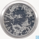 "Netherlands 5 euro 2003 (PROOFLIKE) ""150th birthday of Vincent van Gogh"""