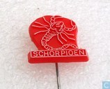 Schorpioen [white on red]