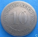 German Empire 10 pfennig 1888 (D)