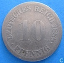 German Empire 10 pfennig 1888 (F)