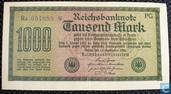 Reichsbank, 1000 Mark 1922 (75K)