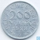 German Empire 200 mark 1923 (F)