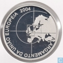 "Portugal 8 euro 2004 (Proof 925 Ag) ""European Union enlargement in 2004 with 10 countries"""