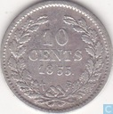 Pays Bas 10 cents 1855