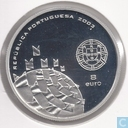 "Portugal 8 euro 2003 (Proof 925 Ag) ""European Football Championship 2004 in Portugal-Football is Celebration-"""