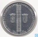 "Portugal 8 euro 2006 (500 Ag) ""150th Anniversary of the First Railway in Portugal"""