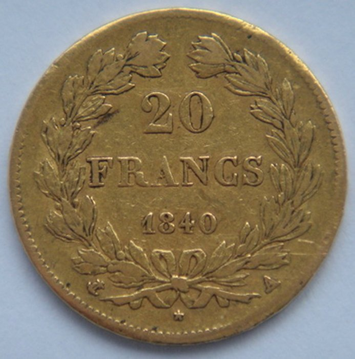 France - 20 Francs 1840 Louis Philippe I gold
