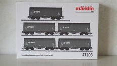 Märklin H0 - 47203 - Set of sliding door carriages, consisting of 5 VTG cars