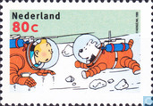 Postage Stamps - Netherlands [NLD] - Tintin Comic - Strip Stamps
