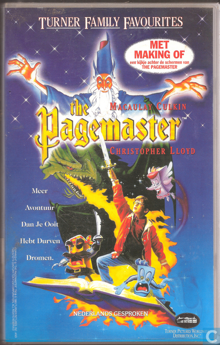 The Pagemaster Vhs Video Tape Catawiki
