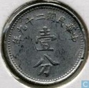 China 1 fen 1940 (year 29)