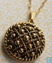Gold Studded Locket Necklace