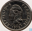 New Caledonia 10 francs 1972