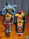 Batcycle & sidecar Red Lights