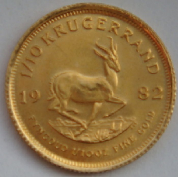 South Africa - 1/10 Krugerrand 1982 Springbok gold