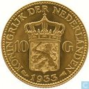 Coins - the Netherlands - Netherlands 10 gulden 1933