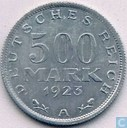 Coins - Germany - German Empire 500 mark 1923 (A)