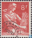 Timbres-poste - France [FRA] - Moissonneuse