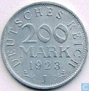 German Empire 200 mark 1923 (J)