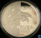 "Aruba 5 florin 2007 (PROOF) ""year of the Dolphin"""