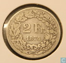 Switzerland 2 francs 1874