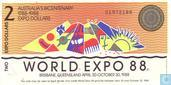 Australia 2 Dollars 1988 (World Expo)