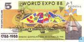 Australië 5 Dollars 1988 (World Expo)