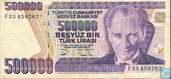 Turkey 500,000 Lira ND (1994/L1970) P208c