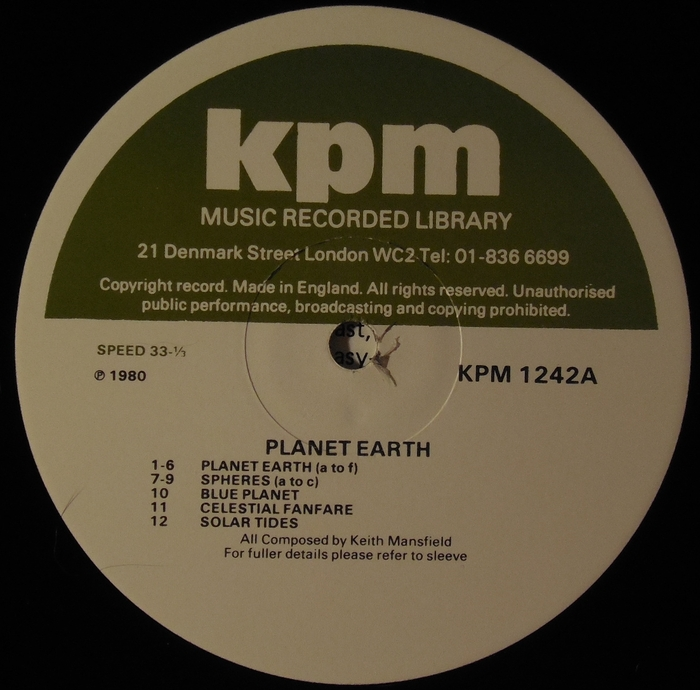Various Artists - 6 LP's from the KPM Music Recorded Library