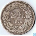 Switzerland 2 francs 1875