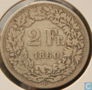 Switzerland 2 francs 1860