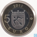 "Finland 5 euro 2011 (PROOF) ""Savonia"""
