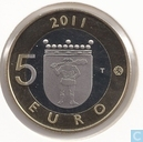 "Finland 5 euro 2011 (PROOF) ""Lapland"""