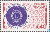 Timbres-poste - France [FRA] - 50 ans du Lions Clubs International