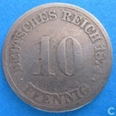 German Empire 10 pfennig 1874 (G)