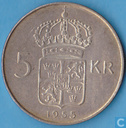 Sweden 5 kronor 1955 (Reversed edge lettering)