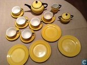 Petrus Regout Jacoba Yellow Tea Set