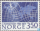 Postage Stamps - Norway - Chrisopher Hansteen