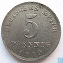 German Empire 5 pfennig 1919 (A - misstrike)