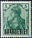 "Germania 'Peace Print', marked ""Saargebiet"""