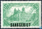 Post Offices Government in Berlin marked SAARGEBIET