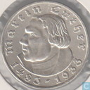 "German Empire 5 reichsmark 1933 (A) ""450th Anniversary of Martin Luther"""