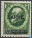 Imprint Sarre on stamps Bavaria